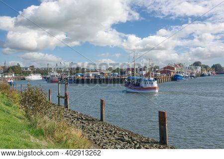 Harbor Of Buesum At North Sea,north Frisia,germany