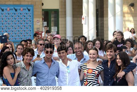 Giffoni Valle Piana, Sa, Italy - July 22, 2019 : Ivan Cotroneo And Cast Tv Series :