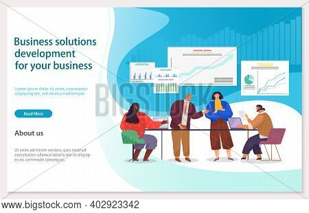 Business Solitions Development For Your Business Webpage Template. Success Way, Creative Innovations
