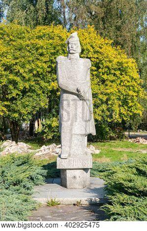 Slupsk, Poland - September 22, 2020: Statue Of Jan Kilinski.
