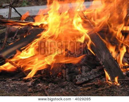 Flame Of Heating Fire
