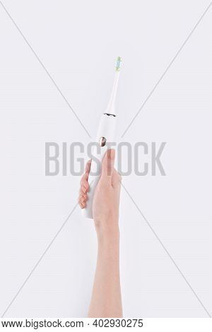 Smart Electric Toothbrush. Modern Technology For Health. Healthy Teeth. Dentistry. Concept Of Profes