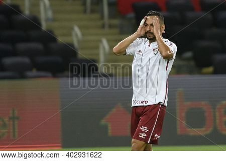 Rio, Brazil - December 06, 2021: Yago Felipe Player In Match Between Flamengo And Fluminense By Braz