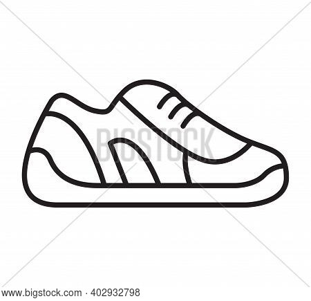 Sneakers Icon. Sport Footwear. Symbol For The Store.