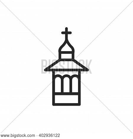 Chapel Color Line Icon. Isolated Vector Element.