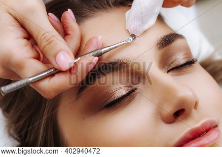 Visit To The Beautician. A Procedure For Manual Treatment Of Problem Areas Of The Skin. Manual Face