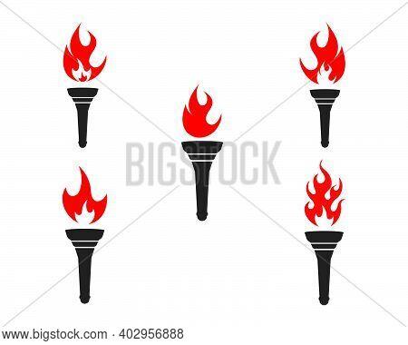 Torch Logo Icon Illustration Vector Design