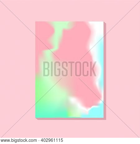 Vertical beauty pastel blurred template for cosmetician and spa salon, visiting card, web banner, leaflet, brochure, flyer, presentation, cosmetic packaging