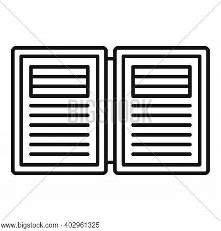 Electronic Book Estimator Icon. Outline Electronic Book Estimator Vector Icon For Web Design Isolate