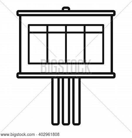 Billboard Estimator Icon. Outline Billboard Estimator Vector Icon For Web Design Isolated On White B