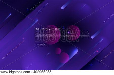 Dark Blue Background, Oblique Stripes With Gradient.
