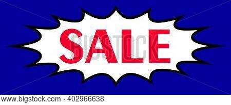 Retro Sale Banner, Highly Visible Poster For Advertising Sale And Discounts, Vector Illustration.