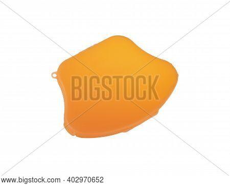 Plastic Face Mask Type Kn95 And N95 Storage Box Isolated On White Background. Coronavirus Covid-19 P