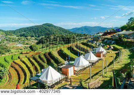 Mon Jam Chiang Mai, Thailand-november 1, 2019: Mon Jam, The Morning View Of The Vacation Spot On Doi