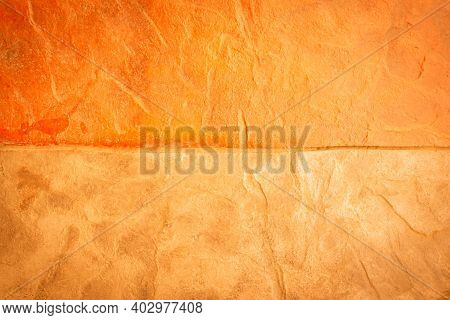 The Gold Stone Texture Background. Gold Or Foil Wall Texture Backdrop Design. Gold Color Wall For Th