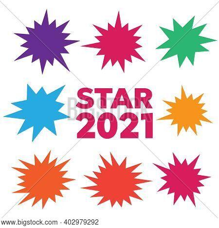 Starburst Explosion Comic Shapes. Speech Boom Bubble