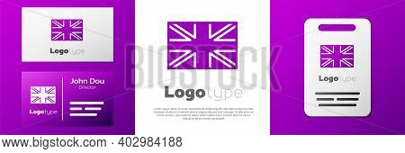 Logotype Flag Of Great Britain Icon Isolated On White Background. Uk Flag Sign. Official United King