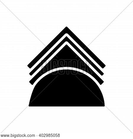 Napkins And Napkin Holder Vector Glyph Icon. Kitchen Appliance. Graph Symbol For Cooking Web Site De