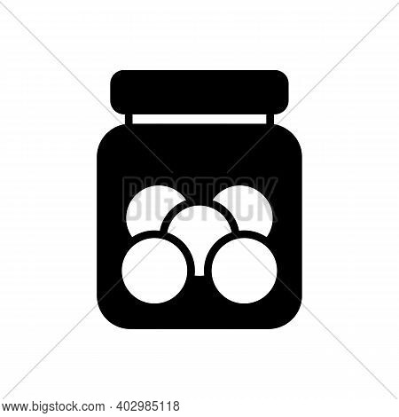 Cookie Jar Vector Glyph Icon. Kitchen Appliance. Graph Symbol For Cooking Web Site Design, Logo, App