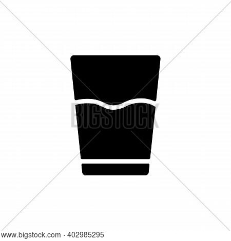 Glass Of Water Vector Glyph Icon. Kitchen Appliance. Graph Symbol For Cooking Web Site Design, Logo,