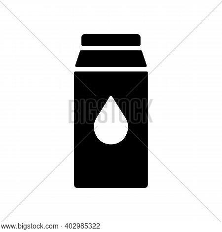 Kitchen Vector Glyph Icon Carton Of Milk. Graph Symbol For Cooking Web Site Design, Logo, App, Ui