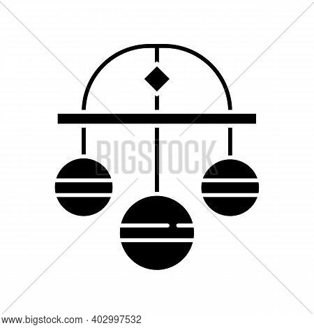Pawn Symbol Black Glyph Icon. Three Spheres Suspended From Bar. Monetary Success Symbol. Pawnbrokers