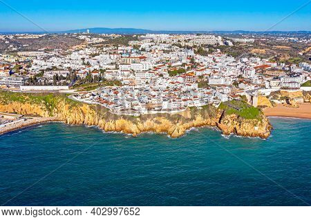 Aerial from Albufeira in the Algarve Portugal