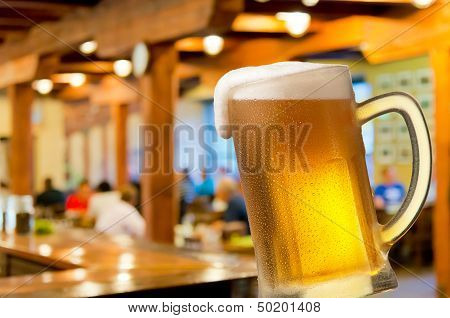 Glass Of Beer In Beerhouse