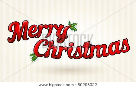 Merry Christmas text worked out to details. Vector art.