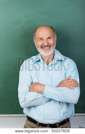 Confident Expert Teacher Looking At Camera