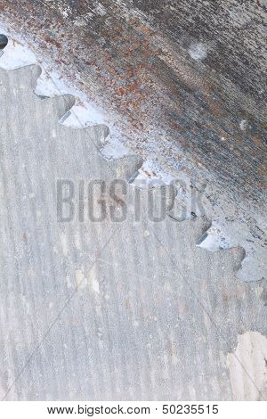Close Up Tool Detail Of Crosscut Saw Blade
