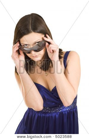 Spy Woman With Sunglasses