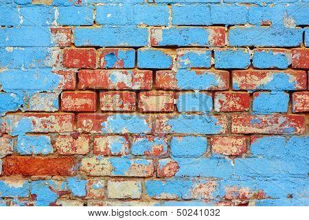 Old Brick Painted Wall