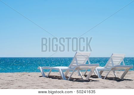 Two sunloungers