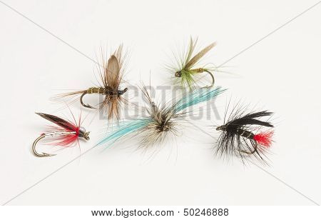 Selection of hand tied fishing flies