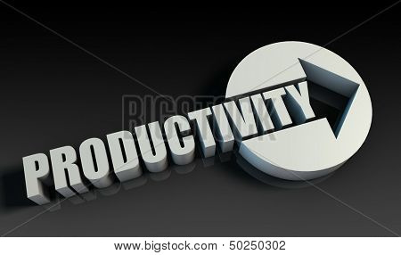 Productivity Concept With an Arrow Going Upwards 3D