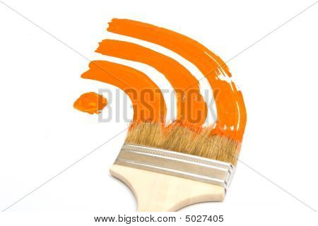 Painted Rss Feed Logo