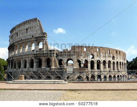 Colosseum Under A Blue Sky
