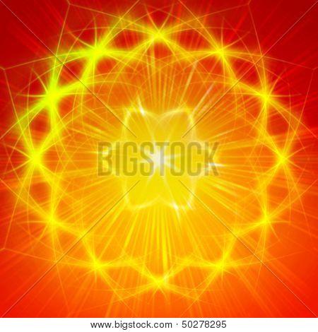Shining Yellow Lights Like Mandala