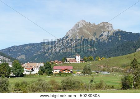 View to the Aggenstein in the Allgaeu