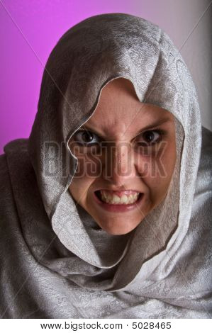 Scary Woman In Shawl