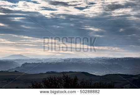 Panoramic View Of Orvieto, Umbria. Italy