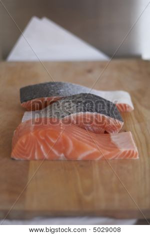 Raw Produce  Fresh Salmon Fillets