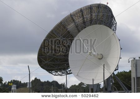 Two Satellite Dishes