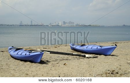 Kayaking Boston Harbor