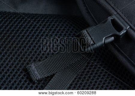 Plastic buckle with strap