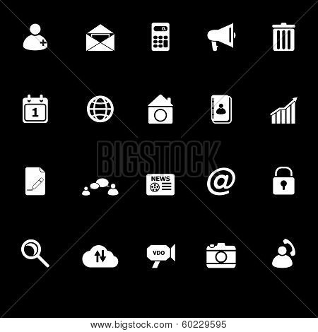 Mobile Phone Icons With Reflect On Black Background