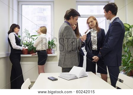 deliberation in an office