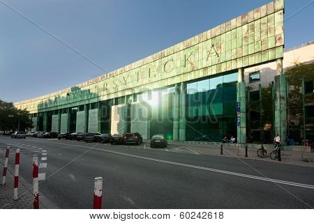Warsaw University library in Poland