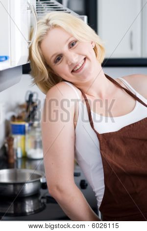housewife in kitchen